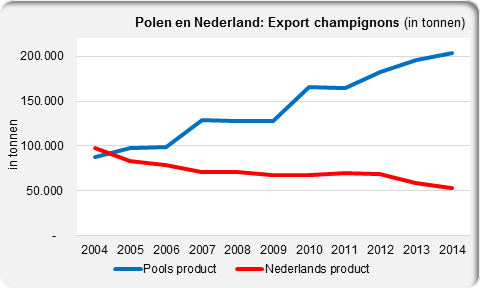 Export mushrooms Poland and the Netherlands