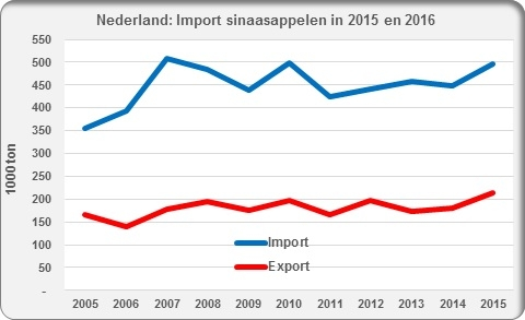 Oranges import export Netherlands sinaasapplen