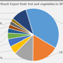 Brazil export fresh fruit and vegetables in 2015
